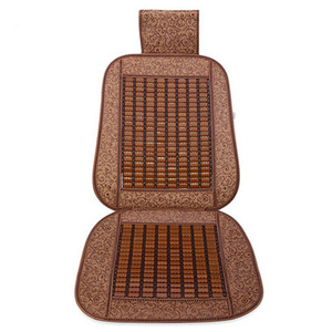 Hot selling leather full bamboo car seat cover for hot summer