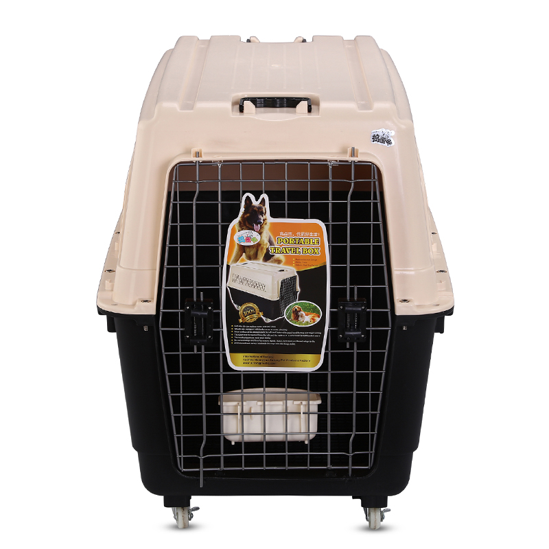 De plástico de transporte viajar mascota jaula de perro perrera perro