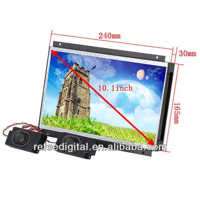 10 inch full hd lcd touch screen open frame advertising player