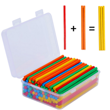 Montessori Teaching Aids Wooden Counting Sticks Rod Math toys with storage box
