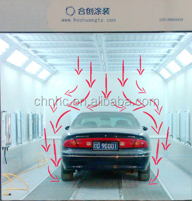 Auto furniture spray painting and baking booth/woodworking spray booth/car painting booth with infrared heating