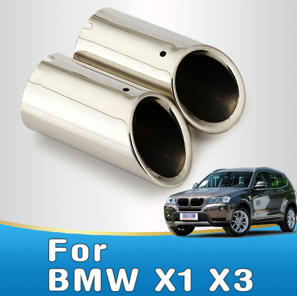 Car Stainless Steel Muffler Exhaust Tip For BMW X1 X3