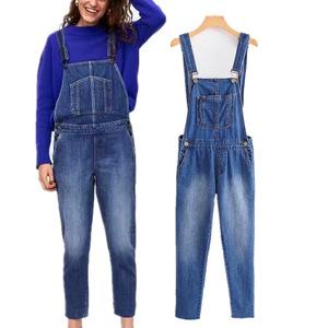 Women Casual Suspender Jeans Pants