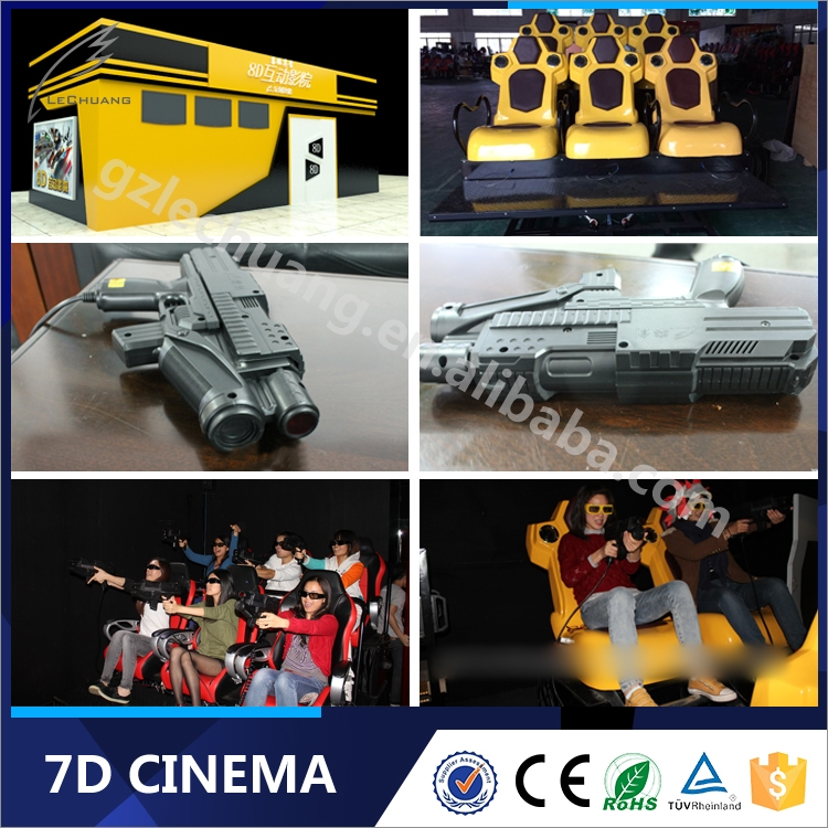120th Canton Fair Kids Playing Hydraulic/Electronic Game Machine 7D Cinema Simulator