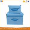 2pcs set folding fabric toy storage box with lid and handles