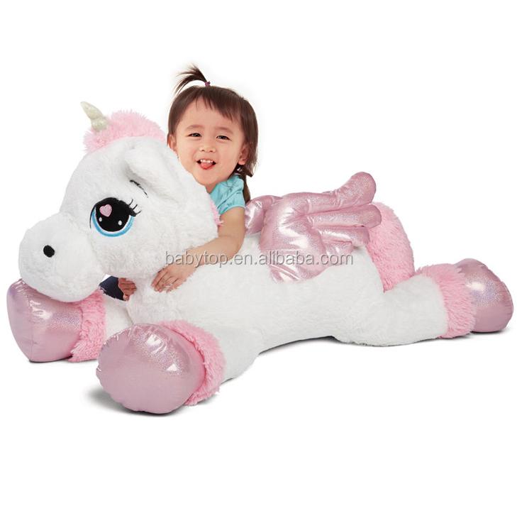 Wholesale Custom 100cm 1m Jumbo Stuffed Toys Large Plush Unicorn Toy