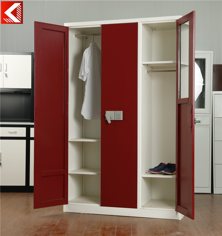 Modern Steel Almirah Designs Clothes Wardrobe With Coded