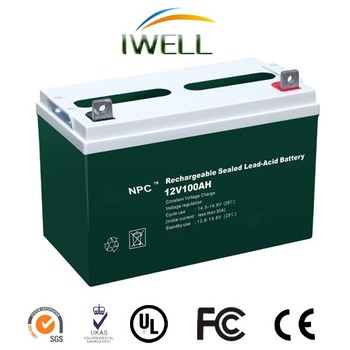 Long Life Tricycle 12v 100Ah VRLA Drained Lead Acid Battery With CE ISO