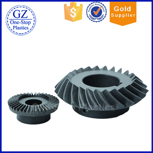 custom Nylon bevel gear plastic pinion helical gear