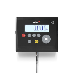 6 digit LCD plastic ABS Rechargeable battery weighing indicator for industrial scales