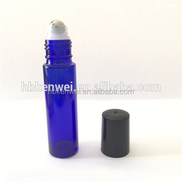 cosmetic glass bottle 10ml Cobalt Blue Essential Oils Roller Bottles for Aromatherapy