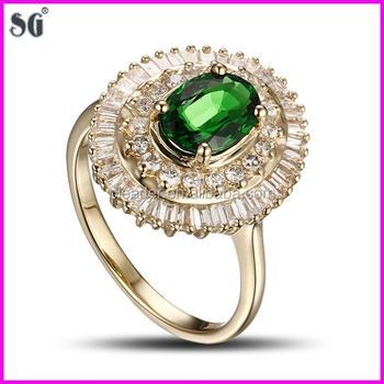 Chinese Manufacturers Big Sun Shape Metal Plated 18k Gold Ring