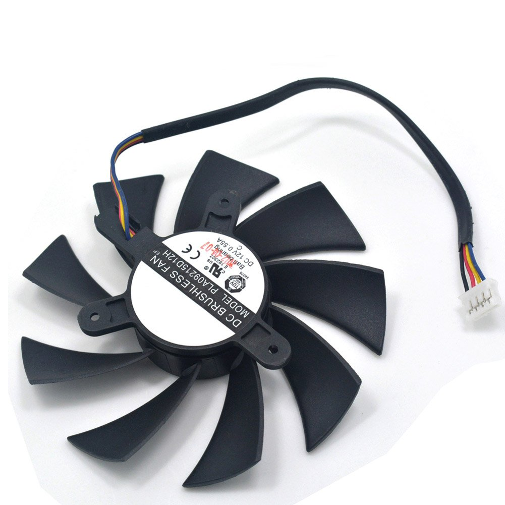 87MM PLA09215D12H 12V 0.55A 4 Wire Ball Bearing Cooling Fans for HD7870 HD7800 HD7850 E6 2G Club HD7800