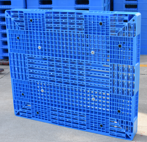 warehouse storage stacking heavy weight double sides plastic pallet for flour bags