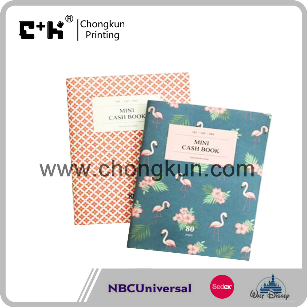Mini 64P Design Notebook Red Floral Flamingo Molang Diary School Book