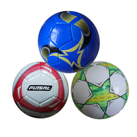Print logo PVC machine sewing American football toy High quality customized promotional cheap soccer ball size 5