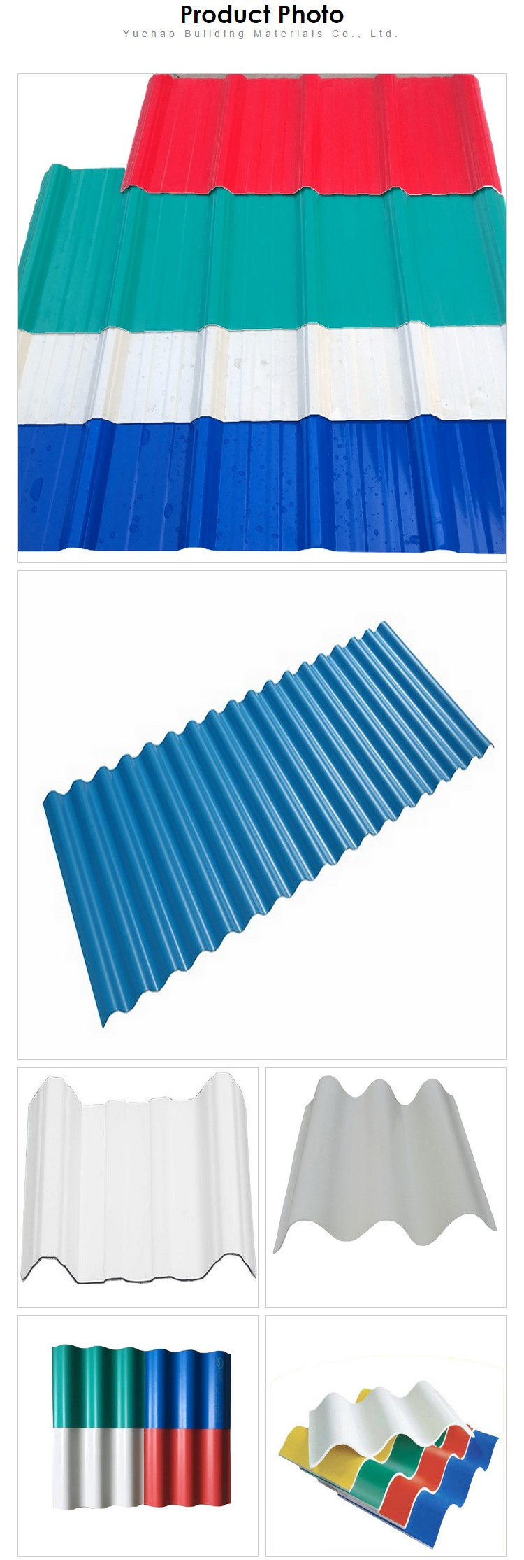 Yuehao plastic roof tiles wholesaler widely used PVC recycled plastic roof tiles bulk production for farm land-4