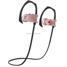 Good Quality leather looking stereo earhook style sport bluetooth headphone waterproof