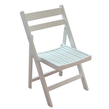 Super Quality White Beech Wood Padded Folding Chair For