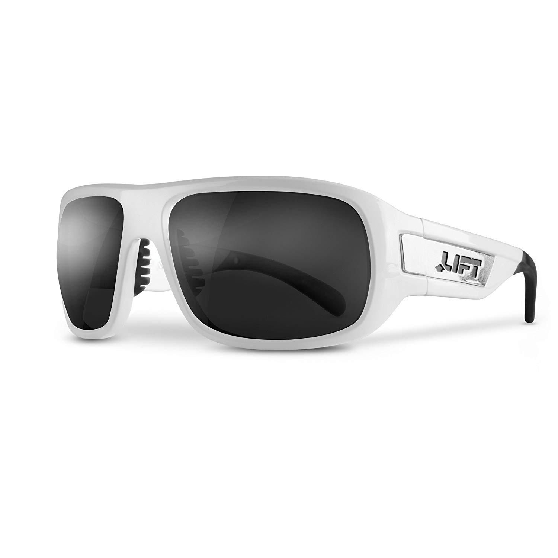 958898d0285 Get Quotations · LIFT Safety Bold Safety Glasses (White Frame Dark Smoke  Lens)