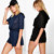 Plus Size Custom Jumpsuits Hooded Knitted Casual Womens Sexy Playsuit