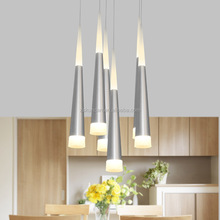 Fancy cone-shaped decorative office led chandelier