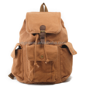 f63e527fa 2106 Hot Sale High Quality Khaki Vintage Travel Canvas Backpack ...