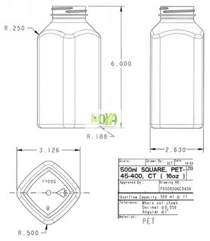 16oz clear glass wide mouth french square bottles ptfe lined caps rh alibaba com Cool Glass Bottles Bottle Beer Glass Diagram