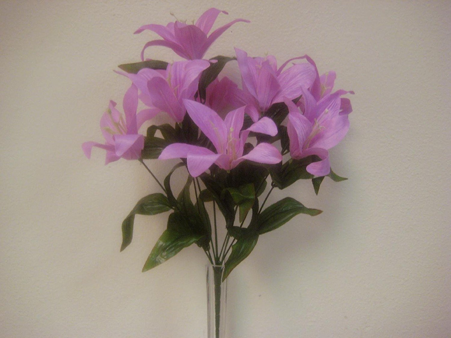 Cheap artificial tiger lily find artificial tiger lily deals on get quotations 2 bushes lavender tiger lily artificial silk flowers 1 x 10 bouquet 4069lv izmirmasajfo