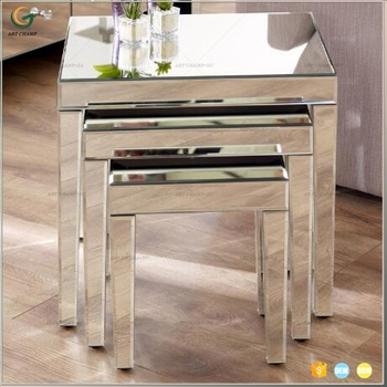 Mirrored Furniture Glass Nest Table Modern Tea Table Design Buy
