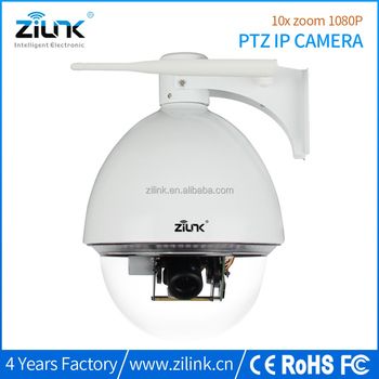 New 10X optical zoom cctv camera SD card recording full hd 1080 ptz dome wifi camera