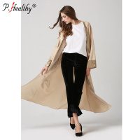 Fashion wings printing new muslin robe cardigan classic loose dress abaya spot