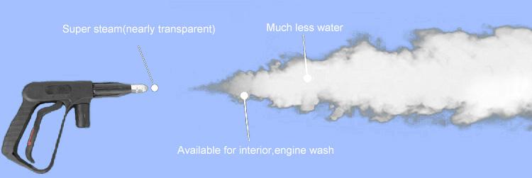Coche eléctrico de la máquina de lavado con pistola de pulverización de vapor portátil lavadora Aspiradora