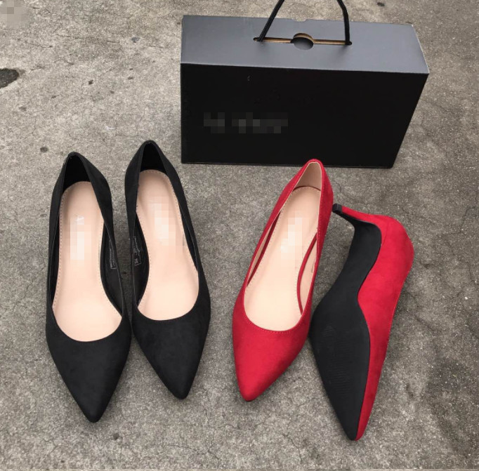 Online selling ladies fancy high heel pumps women Pointed Toe office comfortable shoes