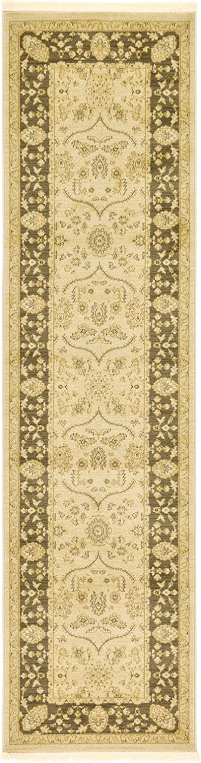 A2Z Rug Heritage Collection Persian Traditional Area Rug Eggshell - 2' 7 x 10' FT Runner High Class Living Dinning Room & Bedroom Rugs, Oriental Floor and Carpets