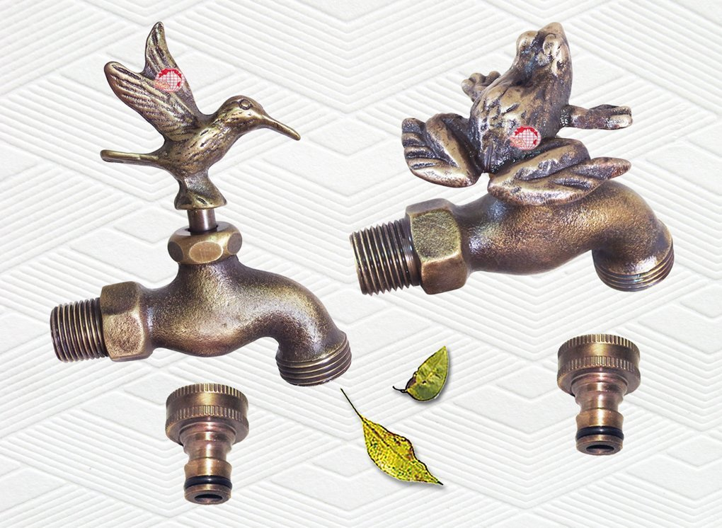 Bathroom Fixtures Bibcocks Realistic Animal Shape Garden Bibcock Rural Style Antique Bronze Duck Tap With Decorative Outdoor Faucet For Garden Washing Fine Quality