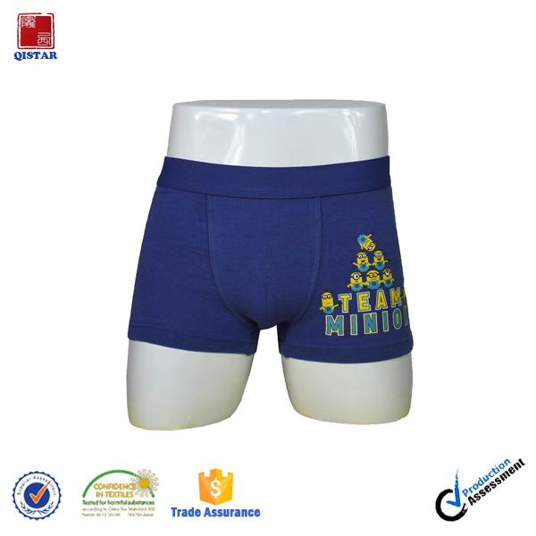 Customized Logo Young Boys Tight Boxer Short Underwear / Cotton Boxer shorts Teen Boys Underwear