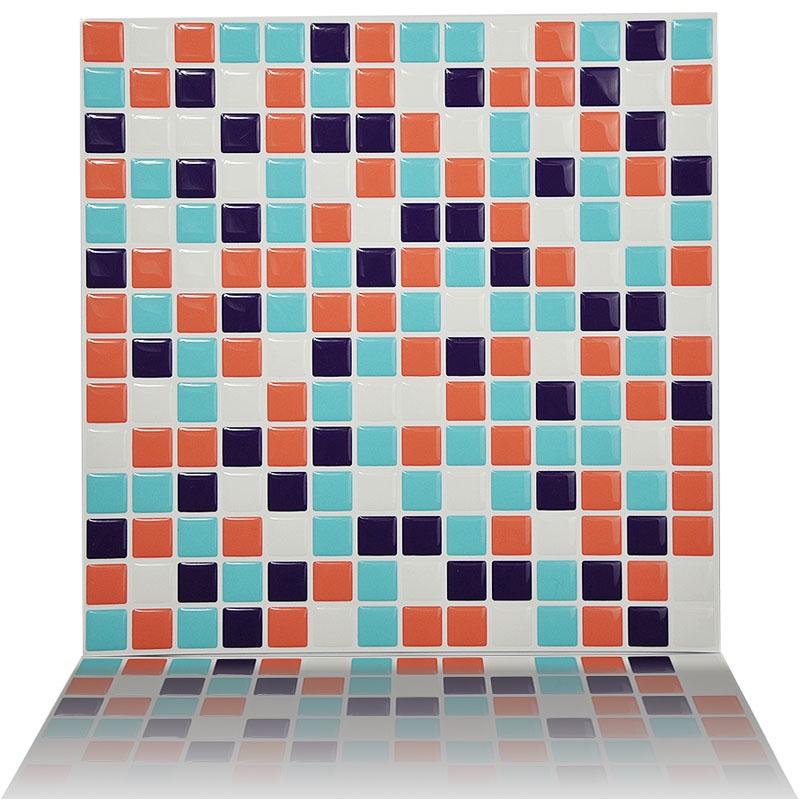 amavin 3d mosaico buccia e stick wall adesivo per piastrelle per il bagno home decor 10x10