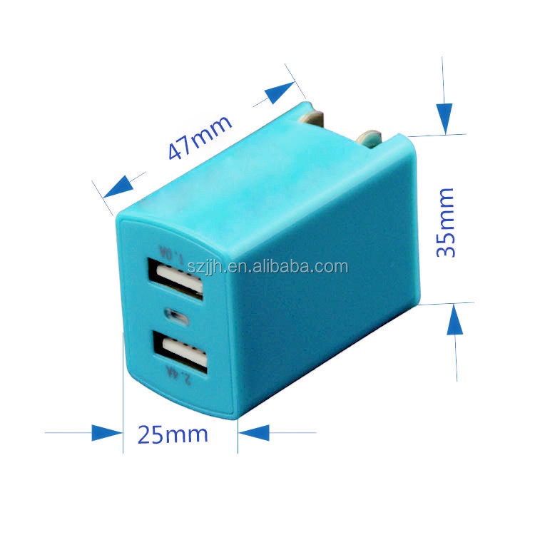 home charger with USB,Electric Type and use for mobile phone,Mobile Phone Use 5V2.4A Usb Wall Charger