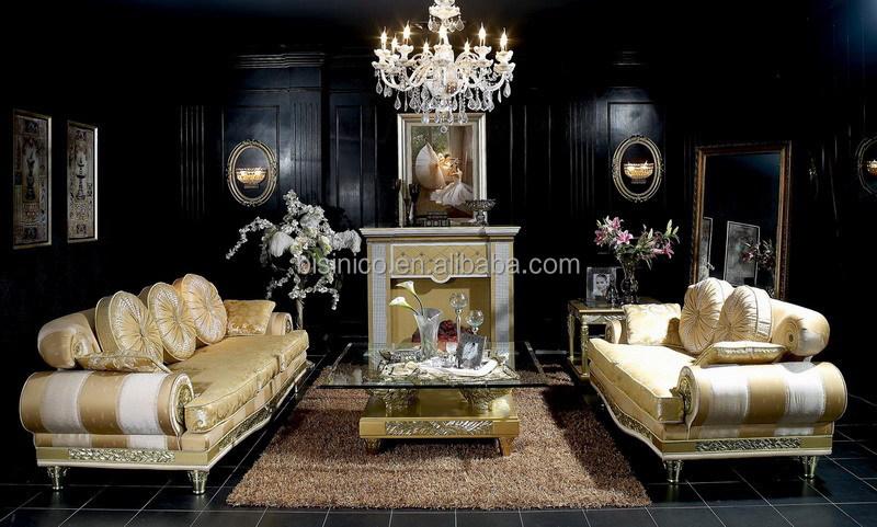 Italian Luxury Style Wooden Fabric Sofa Set Design Furniture Sectional