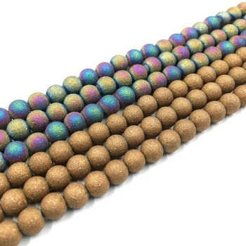 china laughing semi-precious stone bead color glass beads for diy