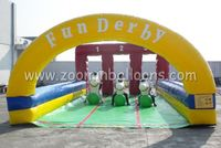 popular run game funny inflatable derby race with pony hops Z5023