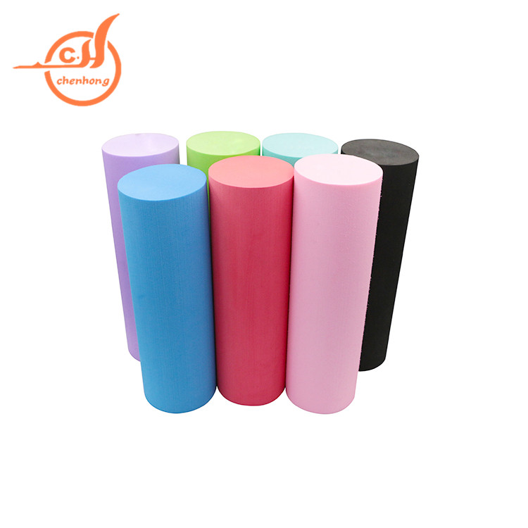 Yoga Muscle Massage rubber foam Roller for Fitness