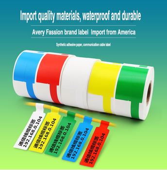 Wholesale Strong Adhesive Plastic Vinyl Cable Marking Tags