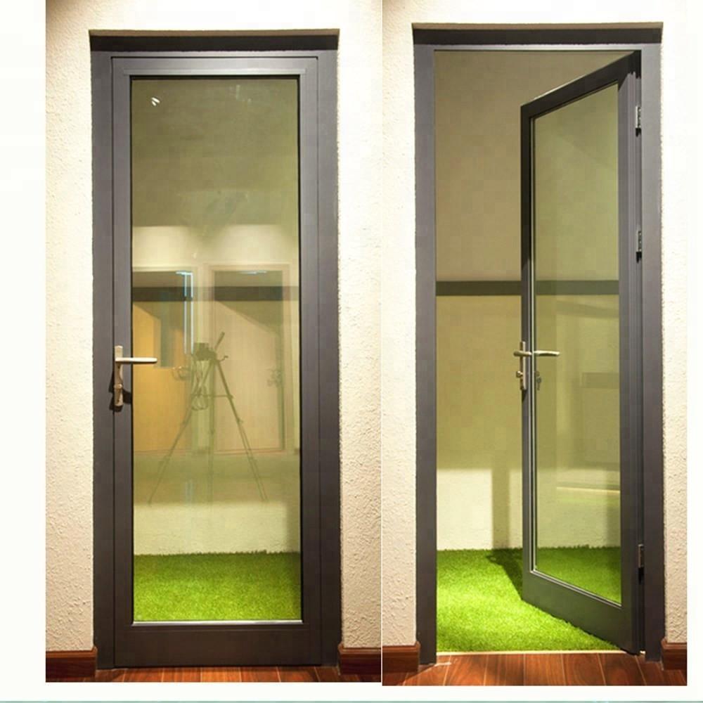 Double Glazed Aluminium Glass Hinged Door Design Garden