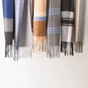 IMF Classical Plaid Cashmere Scarves Men Winter Scarf