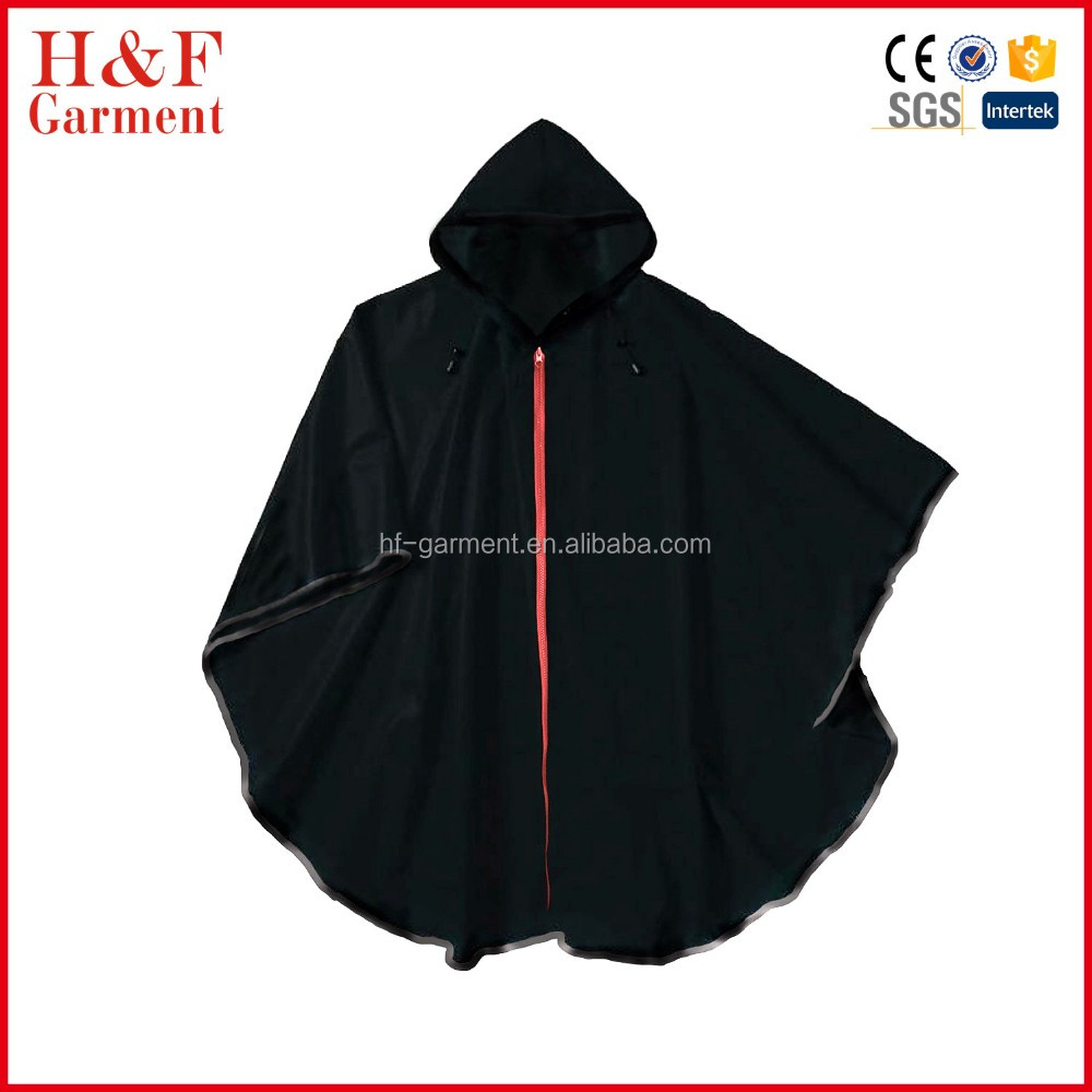 Red zipper rain gear for men women best black rain poncho for Christmas 544a6fb1ba32