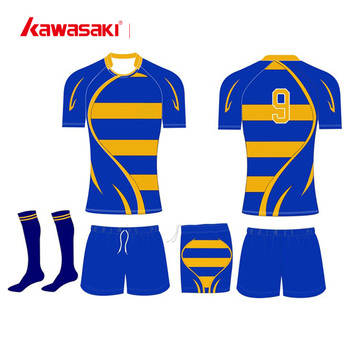 437a08d163 Wholesale custom 100% polyester sublimation printing striped rugby uniforms  jersey