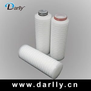 Absolute Pore size 0.1 Micron PES Pleated Filter For Final Filtration Of DI Water