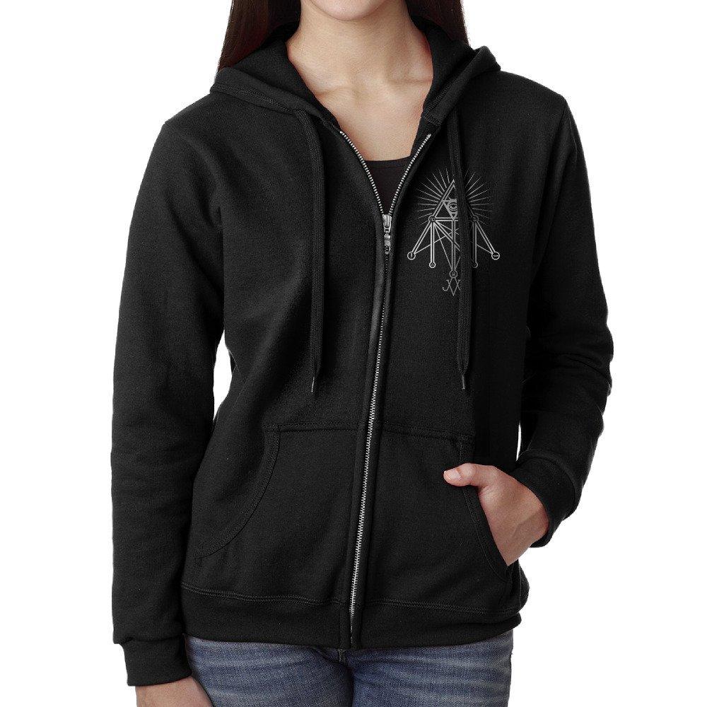 Get Quotations · Women s Illuminati Occult Geometric Satanic Symbol Zip  Hoodie Sweatshirt d8dc2dc7c516